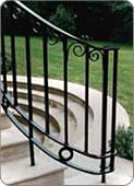 Metal handrailing wrought Ironworks