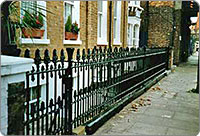 Victorian cast iron railings
